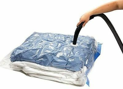 10 PACK VACUUM COMPRESSED STORAGE BAGS SPACE SAVING CLOTHES BEDDING - 50 x 70cm