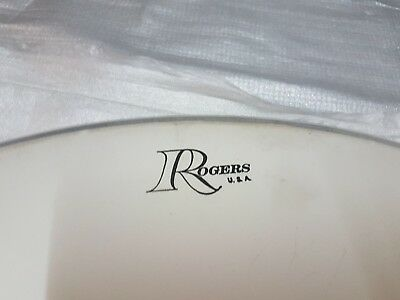 70's ROGERS BASS DRUM HEAD - made in USA
