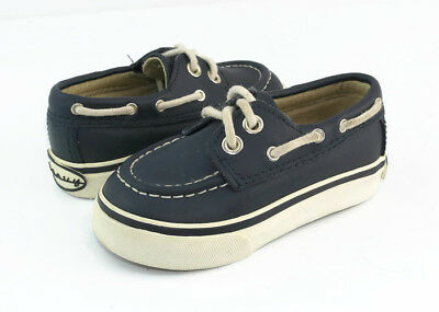 8a5c0013ed31 Old Navy Blue Leather Baby Boy Boat Oxfords Moccasins Loafers Shoes Size US  6