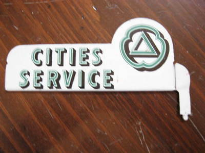 Vintage Cities Service Gas Oil Station Small Advertising Sign Rack Topper
