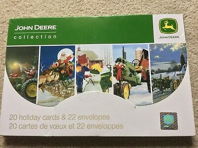 MasterPieces JOHN DEERE Collection Christmas Holiday 20 CARDS & 22 ENVELOPES New