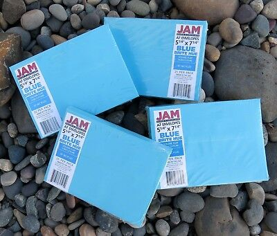 NEW x200 A7 5x7 ENVELOPES for Cards, Invitations, POOL BLUE, Brite Hue by JAM