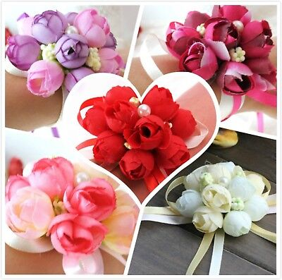 Bridesmaids Wrist Corsages for Wedding Bracelets For Mother of the Bride ... New