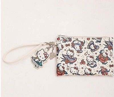 Sanrio Hello Kitty Tattoo Faux Leather Clutch Wristlet Purse Gift New With Tags!