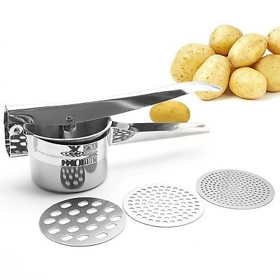 Professional Stainless Steel Potato Ricer Masher Heavy Duty Food Presser ... New