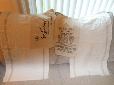 Vintage Flour Sacks, Wedgelock Corp. Fasteners Bag, Lucalsax Bag
