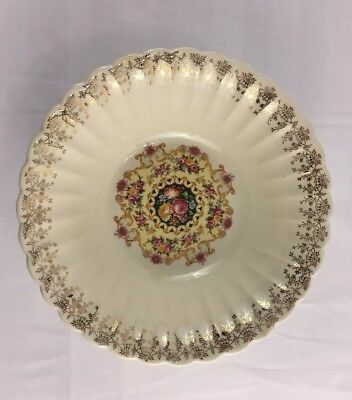 American Homes Dinnerware Warranted 22k Gold Melody Vegetable Serving Bowl 9 in
