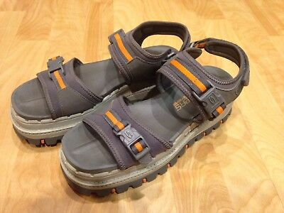 Vintage SKECHERS Jammers Platform Shoes Sandals SIZE 8 Gray Orange Tough S Shoes