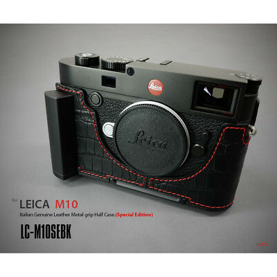 Lim's Design Lims Genuine Italy Leather Case for Leica M10 Crocodile Black Red