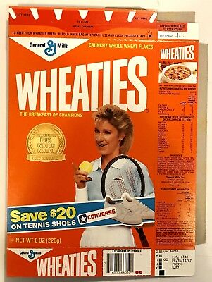 Vintage 1987 General Mills Wheaties Cereal Box,Converse Shoe Offer,Chris Lloyd