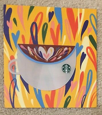 Starbucks 2018 Singapore Valentine's Day Mini Cup Shape Card