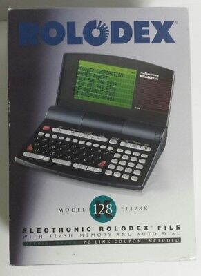 New Electronic Rolodex File With Flash Memory and Auto Dial EL128K - Free Ship!