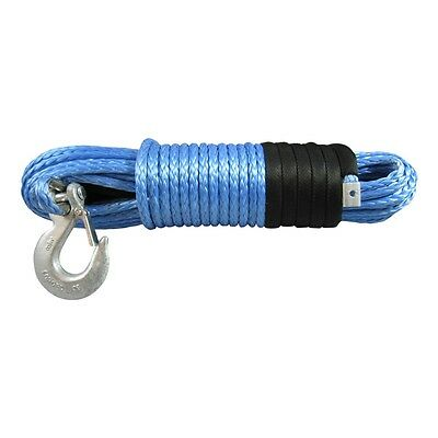 6MM X 12M Dyneema SK75 Winch Rope Hook - ATV Quad Boat Synthetic Recovery Cable