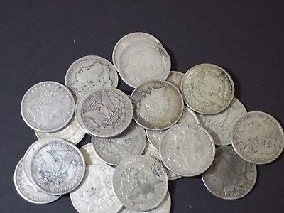 1878-1921, ONE(1) CULL GRADE- Silver Morgan Dollar Rare US Old Coin -1 coin