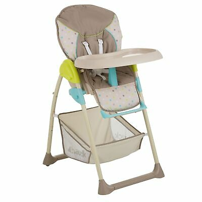 Hauck Sit N Relax High Chair / Reclining Lounger Birth To 15kg - Multi Dots Sand