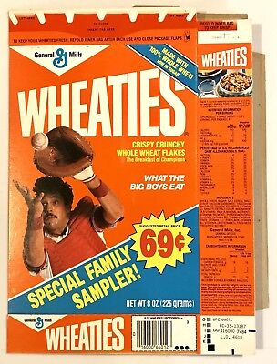 Vintage 1984 General Mills Wheaties Cereal Box Family Special Salesman Sample