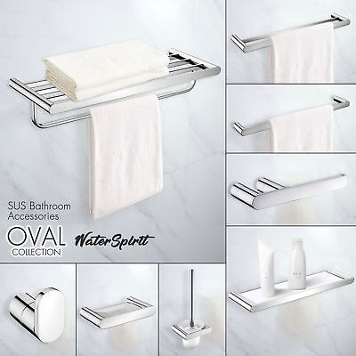 Mirror Bathroom Accessories Towel RailsToilet Brush Holder Hook Rack Shelf Set