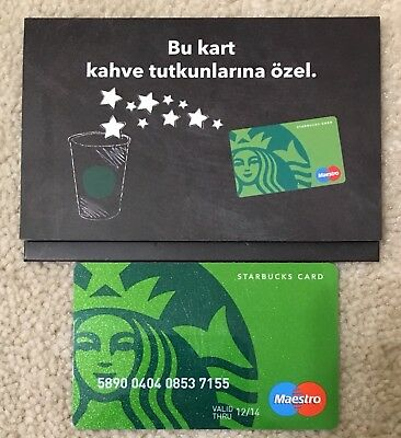Starbucks TURKEY 40th Anniversary Maestro Card With Sleeve 12/14 RARE
