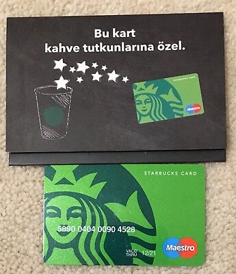 Starbucks TURKEY 40th Anniversary Maestro Card With Sleeve 12/21