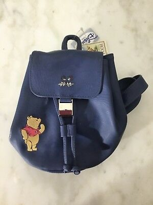 a6eabeaaa1 Vintage Classic Winnie the Pooh Small Leather Child s Backpack NWT Disney  Store