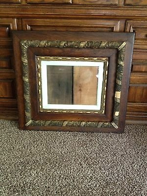 Antique Vtg. Ornate Hand-CARVED GOLD HEAVY Wood Picture Frame 31 x 31 c1950-60s