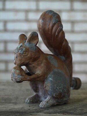 Antique Vintage Cast Iron Figural Squirrel Metal Lawn Garden Sprinkler Statue