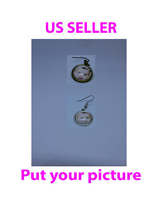 Custom earring , put your own picture, size: 14mm