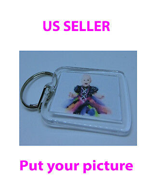 """Custom keychain , put your own picture, size: 1.25""""x1.75"""""""