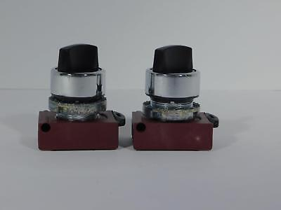 2 ea GE CEMA General Electric P9CSMZ0N Spectra Series Black Selector Switch NOS