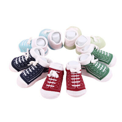 5 Pairs Shoes shaped Ankle Socks Unisex 0-6 Months Newborn Baby Cotton Socks NEW