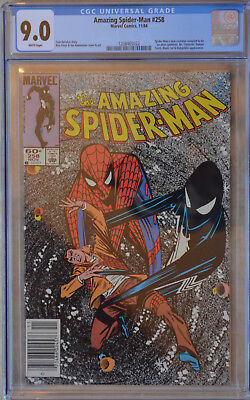 AMAZING SPIDER-MAN #258 (1984) CGC 9.0 (VF/NM) White Pages (NEWSSTAND EDITION)