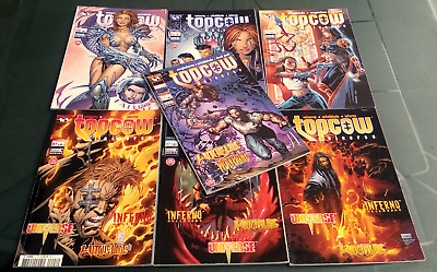 lot de BD TOPCOW universe - witchblade.inferno N°1.2.3.5.6.15.17 / C.NEUF