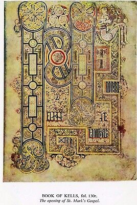 Book of Kells : Opening Words of St. Mark's Gospel : Trinity College: Dublin