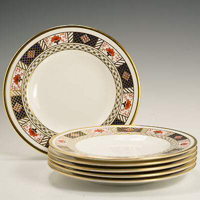 Royal Crown Derby Border Imari A.1253 6 Side / Tea / Bread Plates Firsts