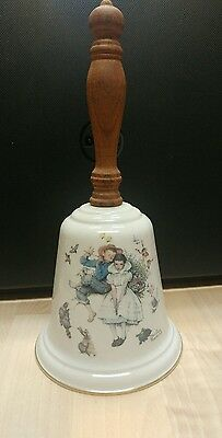 Vintage 1975 Norman Rockwell LOVE'S HARMONY Gorham Fine China BELL!