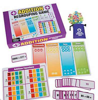 Addition Regrouping Game 244 pieces:  Primary Teacher Resources Maths Learning