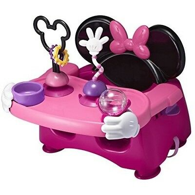 Booster Chair Toddler Seat Tray Baby Table Safe Portable Adjustable Pink Cute
