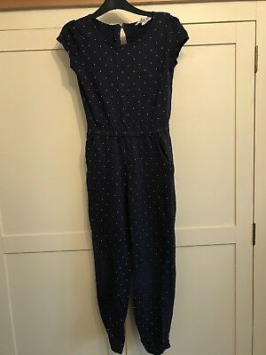 H&M Blue And White Spot girls  jumpsuit age 7-8