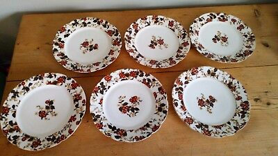 Antique Charles Field Haviland 6 Salad Plates, Victorian