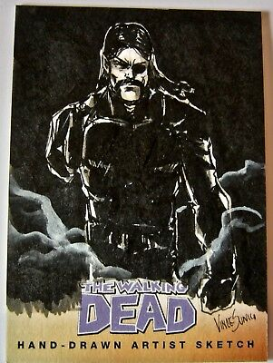The Walking Dead Artist Sketch Card The Governor by Vince Sunico Comic Series 2