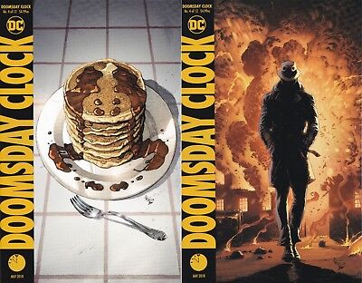 Doomsday Clock #4 (of 12) A&B Cover variant Set Ships NOW Watchmen