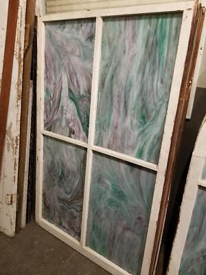 Antique  Slag Glass Windows Architectural Salvage Stained Glass