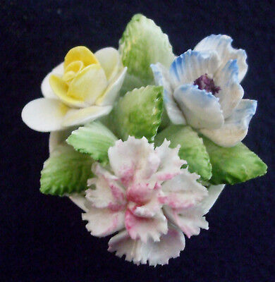 Vintage Miniature Royal Doulton Hand Made & Painted Bone China Flower Bouquet