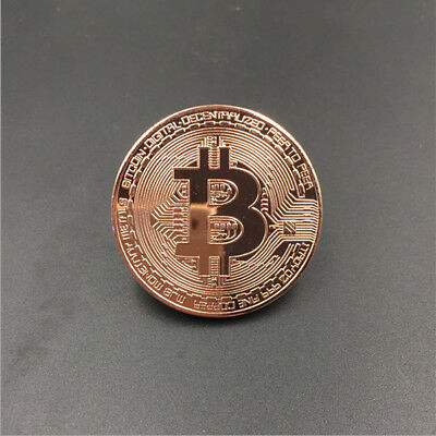 1Pcs Gold Bitcoin Commemorative Round Collector Coin Bit Coin Copper Plated Coin