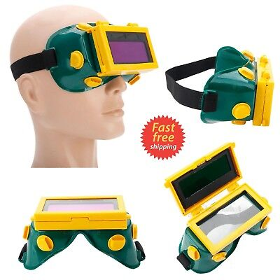 Solar Powered Auto Darkening Welding Mask Goggles Weld Glasses Automatic Dimming