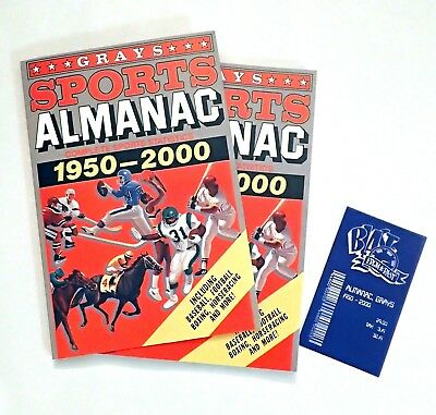 Grays SPORTS ALMANAC from BACK TO THE FUTURE - UNIQUE EDITION - with bill