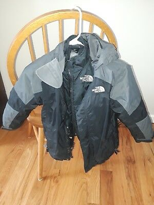 North Face Boys XS (6) Triclimate 3in1 Ski Jacket Puffer Coat with hood