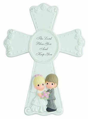Precious Moments Cross Easel Wedding The Lord Bless You Keep You Bisque NEW