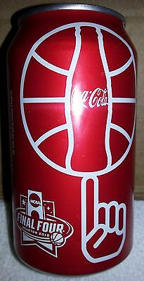 TWO cans- 2016 NCAA Final Four Houston Regular Coke Can Coca Cola Basketball Red