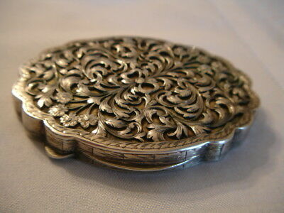 Vintage Large Ornate 800 Silver Compact Bellini Italy 3.6 ounces